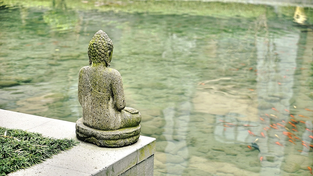 Fish-Pond-With-Statue