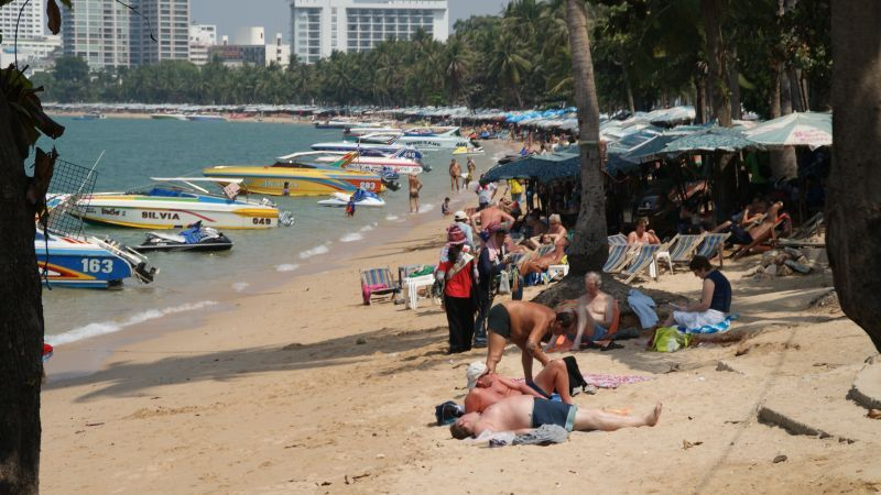 Pattaya-Beach-Thailand-Boats