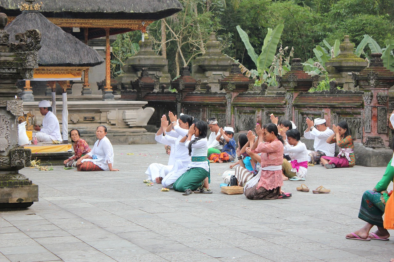 Praying-At-The-Temple-Bali-Indonesia